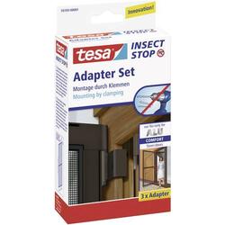 TESA 55193-01 Adapter Alu Comfort Fliegengitter Adapter-Set Passend für Marke Tesa Fliegengitter 3S