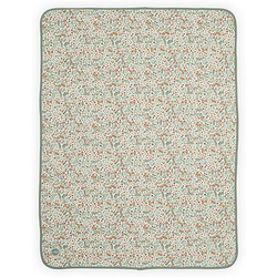 Decke Jersey, 75 x 100 cm, bloom grün/beige