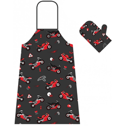 Booster Apron And Oven Glove Set, multicolored