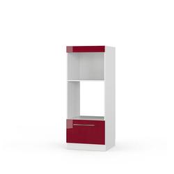 Vicco Mikrowellenumbauschrank Mikrowellenschrank 60 cm Bordeaux Hochglanz Küchenschrank Backofen Küchenzeile Fame-Line