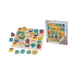 Eichhorn Steckpuzzle Buchstaben-Steck-Puzzle, 30x30 cm, Puzzleteile