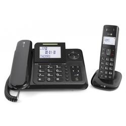 Kombination aus Tischtelefon und schurlosem Telefon Comfort 4005 Combo schwarz