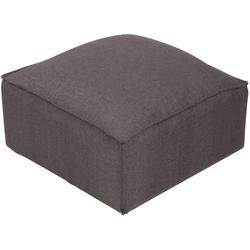 CLP Sitzwürfel Nantes, Samt oder Stoff grau