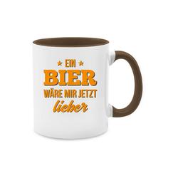 Shirtracer Tasse Ein Bier wäre mir jetzt lieber - Tasse mit Spruch - Tasse zweifarbig - Tassen, tasse bier war