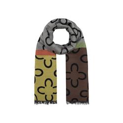 Logo-Schal mit Baumwolle und Wolle Codello brown