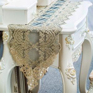 FuHouse 30x180cm Lace Floral Tischläufer Abdecktuch, geeignet für Tischlänge ca. 120-150cm für Wohnkultur/Einweihungsparty Geschenk/Weihnachten/Party/Hochzeitsdeko(Gold/Schwarz)
