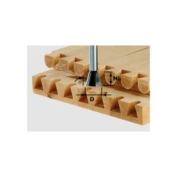 Festool Gratfräser Zinkenfräser HW Schaft 8 mm D 14,3 mm NL 16 mm 10° Nr. 491164