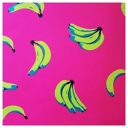 STAR Geschenkpapier, Geschenkpapier Bananen Muster 70cm x 2m pink, Rolle