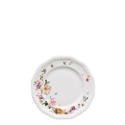 Rosenthal Frühstücksteller Maria Pink Rose Frühstücksteller 19 cm, (1 Stück)