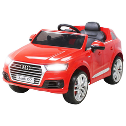 Actionbikes Motors Spielzeug-Auto Kinder Elektroauto Audi Q7 4M, inkl. Fernbedienung rot