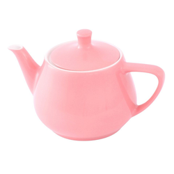 Friesland Porzellan Teekanne Friesland Teekanne 0,85l Pastellrosa Utah Teapot P, 0,85 l, Made in Germany
