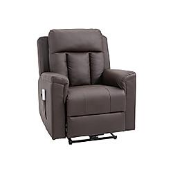 Fernsehsessel mit Massage- und Wärmefunktion (Farbe: braun)