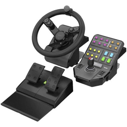 Logitech Gaming G Saitek Farm Sim Controller -N/A- EMEA Lenkrad PC Schwarz inkl. Pedale