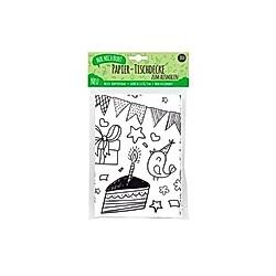 Mal Mich Bunt Ausmal-Tischdecke aus Papier Happy Birthday
