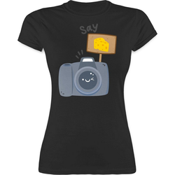 Shirtracer T-Shirt Kamera Say Cheese - Fotografen - Damen Premium T-Shirt M