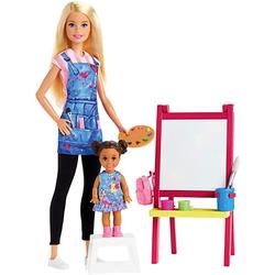Barbie Kunstlehrerin Puppe (blond) und Spielset