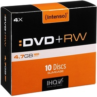 Intenso DVD+RW 4.7GB 4x 10er Spindel