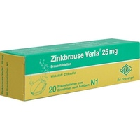 VERLA Zinkbrause Verla 25 mg Brausetabletten