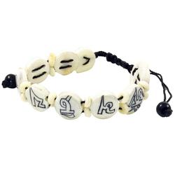 Guru-Shop Armreif Buddhistisches Armband Mantra - weiß Modell 1