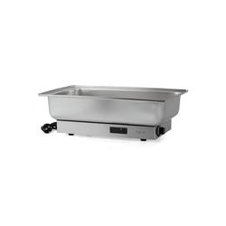 Zelsius Warmhalteplatte Zelsius Elektrischer Edelstahl Chafing Dish für GN 1/1 Behälter