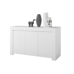 3-türiges Designer-Sideboard L138 cm weiß matt TINO