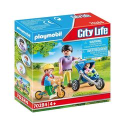 Playmobil® Spielfigur PLAYMOBIL® City Life 70284 Mama mit Kindern