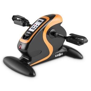 KLARFIT Fahrradtrainer Cycloony MiniBike Bewegungstrainer Motor 120 kg Fernbedienung schwarz schwarz