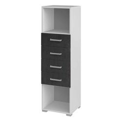 Schubladenschrank in Weiß Grau 40 cm