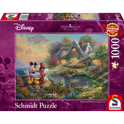 Schmidt Spiele Puzzle Disney, Sweethearts Mickey & Minnie, 1000 Puzzleteile, Thomas Kinkade