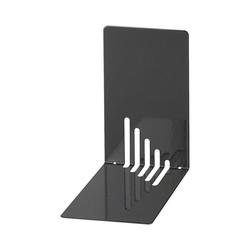 WEDO Buchstütze Buchstützen Metall 14 x 8,5 x 14 cm weiß, 2 Stück schwarz