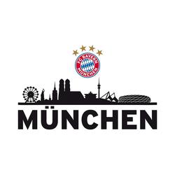 FC Bayern München Wandsticker Wandsticker FCB Skyline mit Logo, 60 x 30 cm