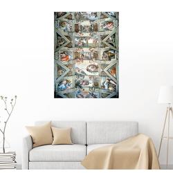 Posterlounge Wandbild, Sixtinische Kapelle – Decke und Lünetten 60 cm x 80 cm
