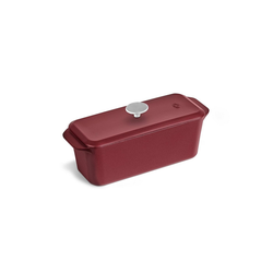 Springlane Kastenform Gusseisen, 34 cm, Brotbackform mit Deckel, Rot rot