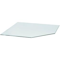 Glasbodenplatte für Kaminöfen , vieleck, 120x120cm, zum Funkenschutz