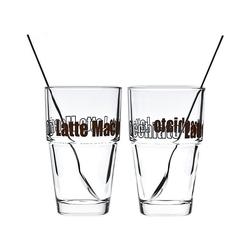 LEONARDO Latte-Macchiato-Glas 4-tlg. Latte Macchiatto Set