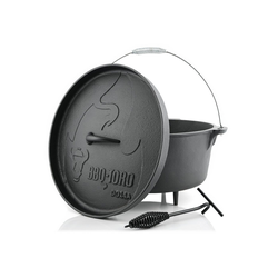 BBQ-Toro Feuertopf BBQ-Toro Dutch Oven DO14A, 13,3 L Alpha Gusseisen Kochtopf, Gusstopf