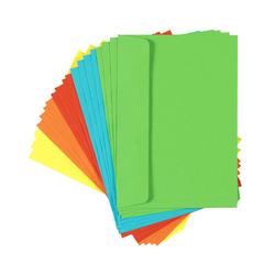 20 Farbige Briefumschläge C6, ohne Fenster