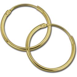 GoldDream Paar Creolen D2GDOB00120K GoldDream Echtgold Ohrringe Creolen (Creolen), Damen Creolen Ohrring aus 333 Gelbgold - 8 Karat, Ø 20mm