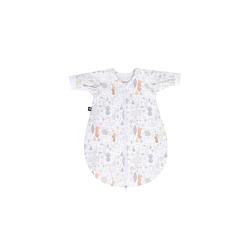 Julius Zoellner Jersey Schlafsack in weiß mit Muster Forest, Größe 62