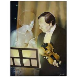 Artland Glasbild Musik Geist, Musiker (1 Stück) 60 cm x 80 cm x 1,1 cm