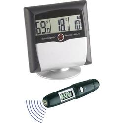 TFA Dostmann MS-10 Luftfeuchtemessgerät (Hygrometer) 1% rF 99% rF Set Hgrometer +Infrarot-Thermomet