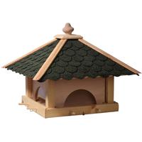 Dobar Vogelhaus mit 4 Futter-Schubladen grün