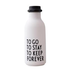 Design letters Wasserflasche To Go in weiß