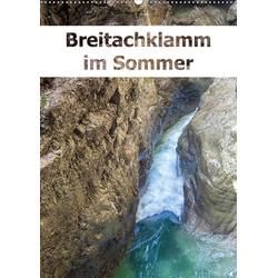 Breitachklamm im Sommer (Wandkalender 2021 DIN A2 hoch)