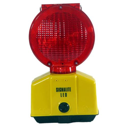 Baustellenleuchte mit LED, rot / mit Schloss