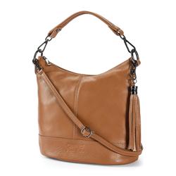 Walbusch Damen Lederhandtasche Standfest einfarbig Zimt 01