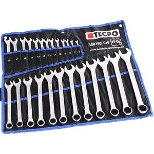 TECPO Maul-Ringschlüssel-Satz 25 Teile Ring Maulschlüssel Werkzeug Schlüssel Set, 6-32mm, 25-teilig