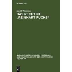 Das Recht im Reinhart Fuchs als Buch von Sigrid Widmaier