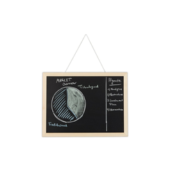 relaxdays Wandtafel Kreidetafel mit Holzrahmen 40 cm x 2 cm x 30 cm