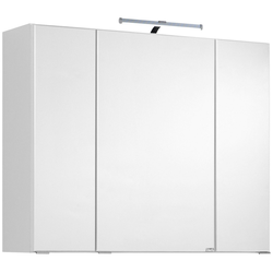HELD MÖBEL Spiegelschrank Texas Breite 80 cm, mit LED-Aufbauleuchte weiß